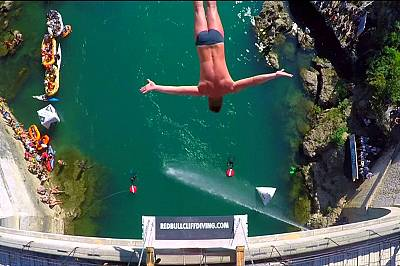 Navratil wins in Mostar for World Cliff Diving double