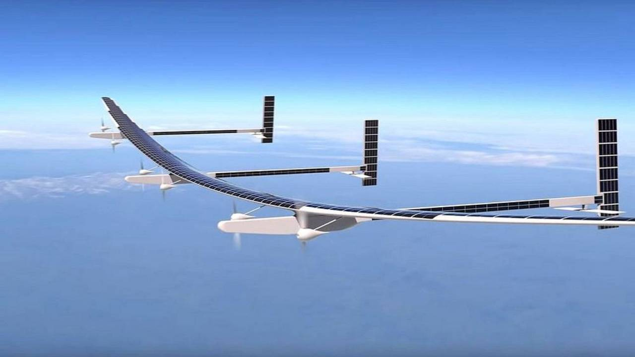 The solar-powered Odysseus unmanned aerial vehicle can fly above 60,000 fee