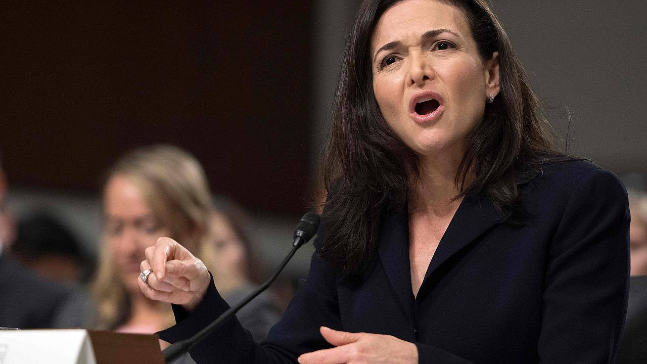 Facebook COO Sheryl Sandberg testifies before the Senate Intelligence Commi