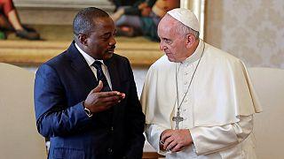 DRC unrest tops agenda as Kabila meets Pope in private visit