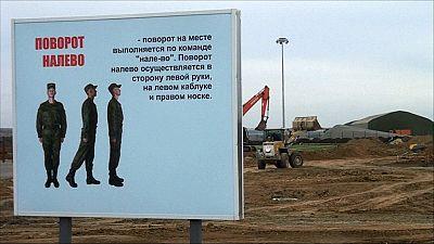 Una base militar rusa toma forma en la frontera con Ucrania