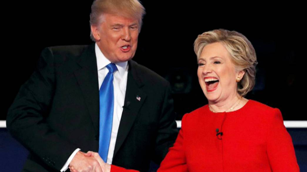 Clinton and Trump throw political punches in TV debate