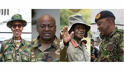 [Photos] African presidents in military attire