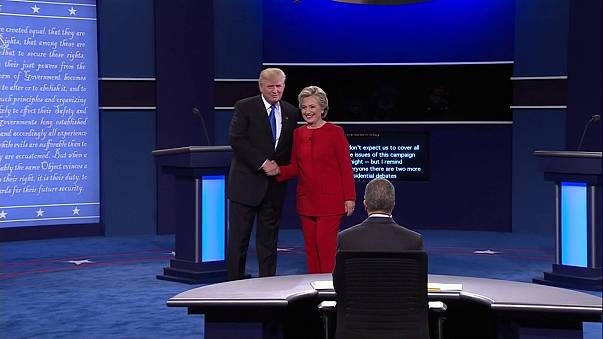 Trade and tax returns - business issues prominent in presidential debate