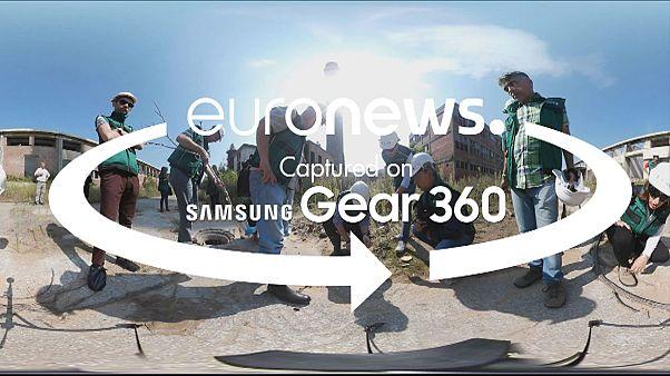 Guarda il video a 360 gradi: la decontaminazione in Serbia