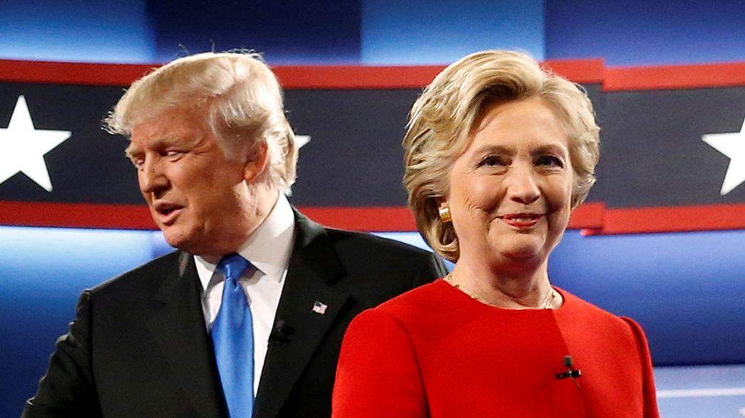 Hillary Clinton und Donald Trump in ihrem ersten TV-Duell: Wer hinterließ den besseren Eindruck?