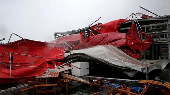 Тайфун «Меги» обрушился на Тайвань