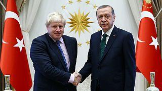 Boris Johnson ditches insults and talks 'jumbo' trade deals in Turkey