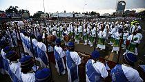 Ethiopians celebrate the Meskel religious festival