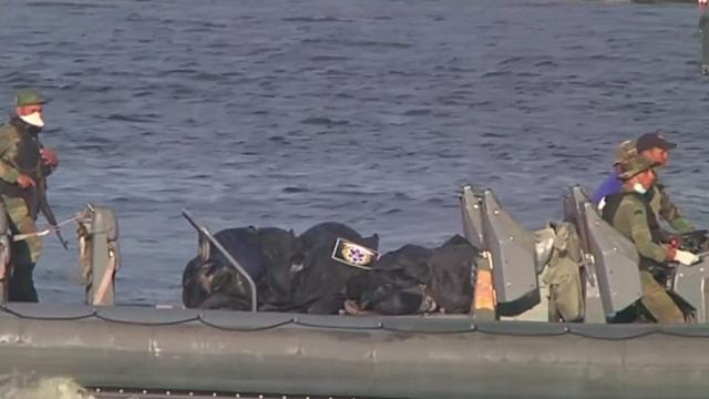 انتشال المركب الغارق قبالة سواحل مصر و33 جثة أخرى