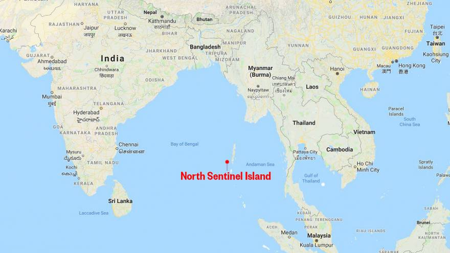 Image: Map showing the location of North Sentinel Island