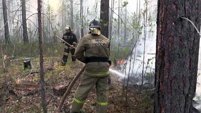 السلطات الروسية تعمل لاحتواء حرائق الغابات في سيبيريا