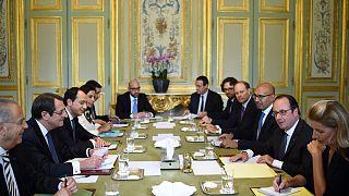 Συνάντηση Νίκου Αναστασιάδη και Φρανσουά Ολάντ στο Παρίσι