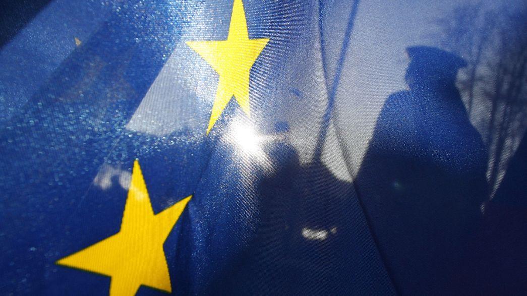 Mobilisation sociale dans les rues de Bruxelles