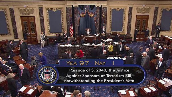 Congresso rejeita veto de Obama a processos contra Arábia Saudita