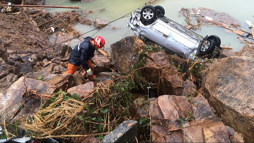 Dozens missing in eastern China after landslides