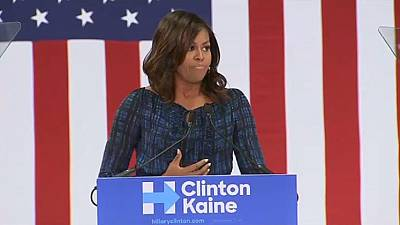Michelle Obama fires warning shots about Trump during Hillary Clinton's campaigns
