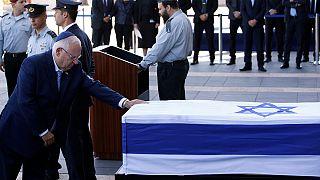 İsrailli liderlerden Şimon Peres'e saygı