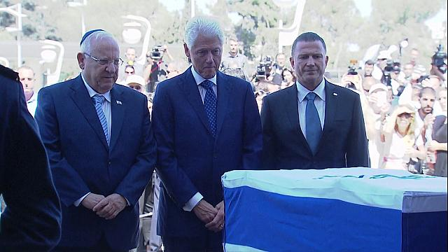 تشييع جثمان شمعون بيريز بحضور العديد من قادة دول العالم