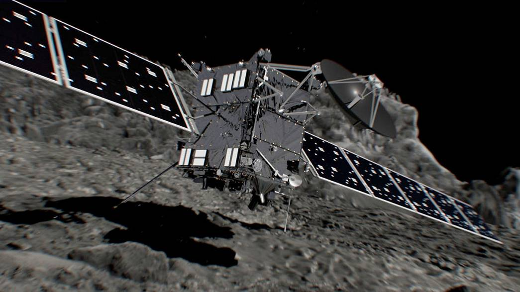 Rosetta crash-lands on her comet