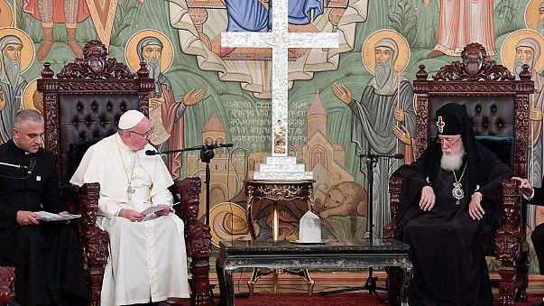 Papa Francis ilk kez Gürcistan'da