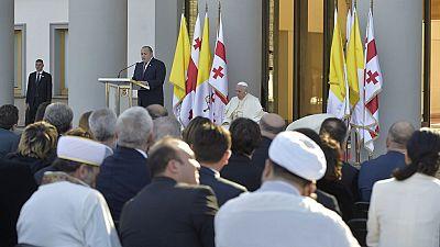 Le pape François en visite en Géorgie