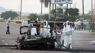 حمله مسلحانه به یک کاروان نظامی در مکزیک شش کشته و ده زخمی برجای گذاشت