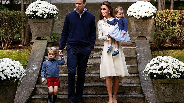 Британская королевская семья на канадском детском утреннике