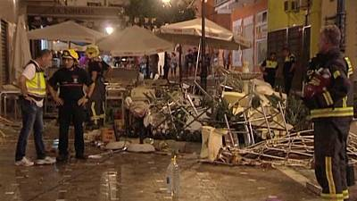 Al menos 74 heridos en una explosión de gas en Málaga, España