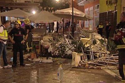 Decenas de heridos en una explosión en Málaga, España.