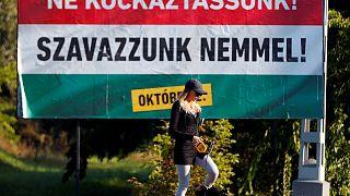 مجارها در رفراندوم 'آری یا نه به مهاجران' در پای صندوقهای رای