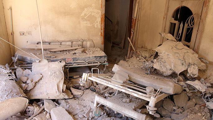 Halep'in en büyük hastanesi ikinci kez vuruldu