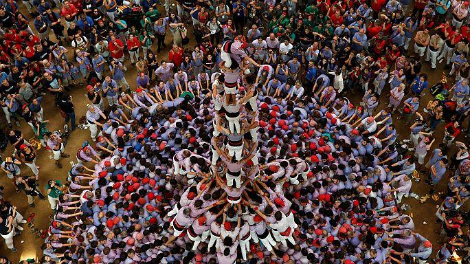 Vilafranca gana por octava vez consecutiva el concurso de castillos humanos de Tarragona