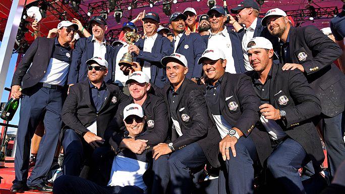 Ryder Cup'ın galibi Amerikalı sporcular oldu