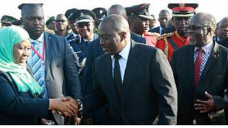 Kabila gets 21 gun salute as he arrives for 3-day official visit to Tanzania