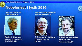 جائزة نوبل للفيزياء تمنح لثلاثة بريطانيين لأبحاثهم حول المادة