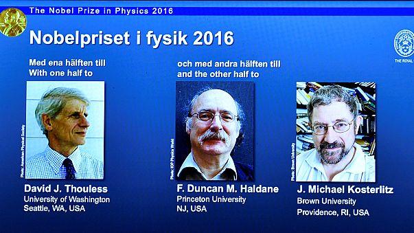 Nobelpreis für Physik geht an David Thouless, Duncan Haldane und Michael Kosterlitz