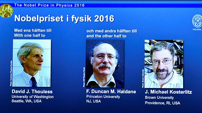 Strange matter - Three British scientists win Nobel Prize for Physics