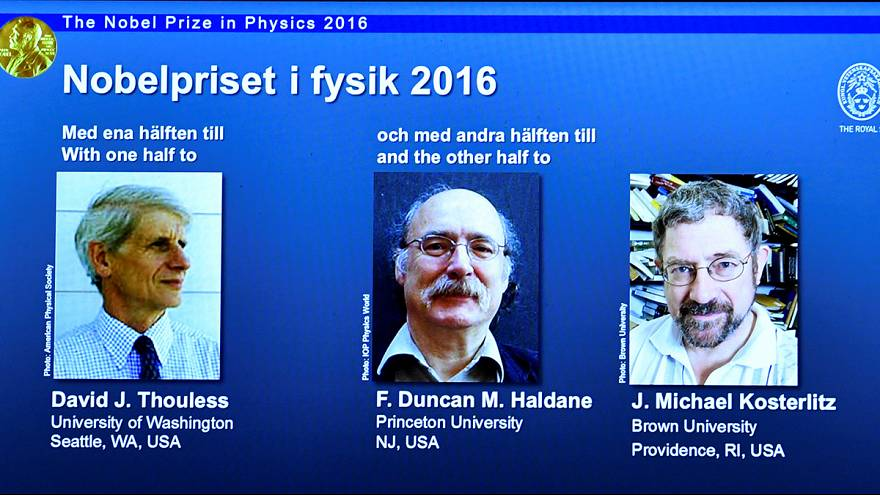 Nobel da Física 2016 para David J. Thouless, Duncan Haldane e J. M. Kosterlitz
