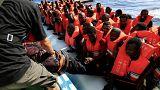 Seis mil migrantes resgatados em 24 horas ao largo da Líbia
