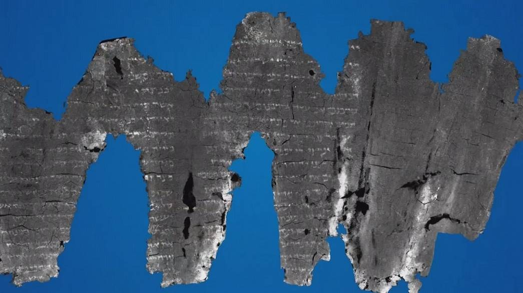 Piece of coal deciphered as ancient biblical text