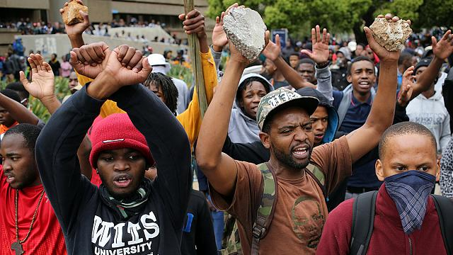 Protests escalate into violence in South Africa as police and students clash