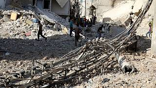 Combats de rue à Alep