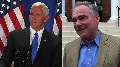 Etats-Unis : un seul débat TV entre les colistiers de Trump et de Clinton