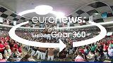 [Video 360] Torri umane si ergono in Tarragona, Spagna