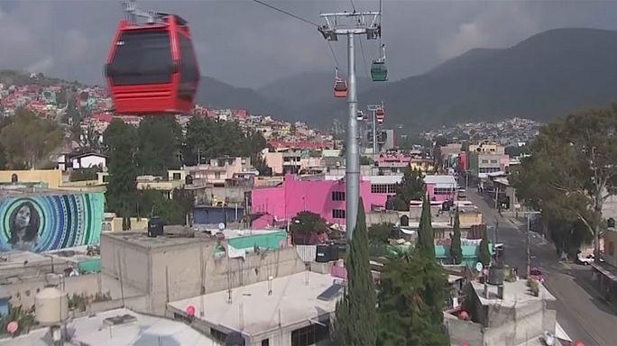 """Мехико: """"воздушной гондолой"""" из пригорода в город"""