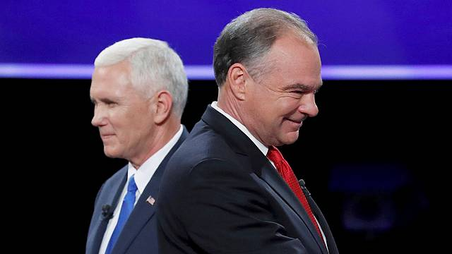 Kaine and Pence clash in vice-presidential TV debate
