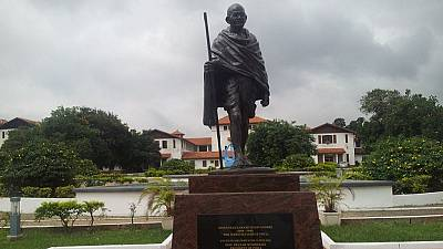 Controversial Gandhi statue's glasses stolen from University of Ghana