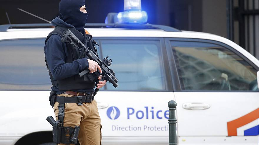 Belgian counter-terror officers investigate police stabbings in Brussels