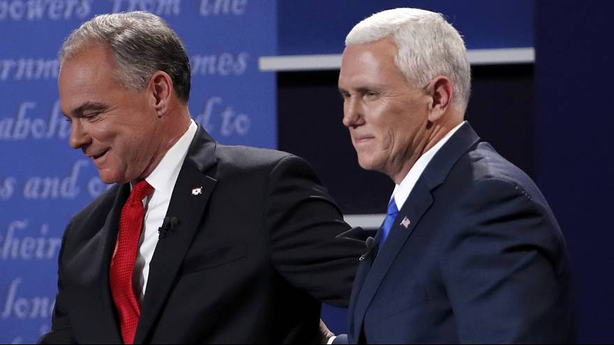 Kaine and Pence trade blows and barbs at the vice-presidential debate